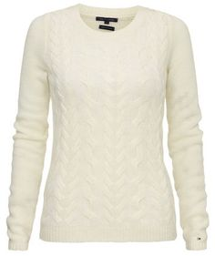 Damen Strick Pullover von Tommy Hilfiger  #white #fashion #engelhorn
