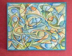 Oleo abstracto. Dimensiones: 32.8 x 40.2 84 cm x 103 por ArtEstrela