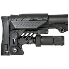 Command Arms Accessories Sharp Shooting 10-position adjustable stock with completely adjustable, featuring a rear-folding leg that converts a rifle with a bipod into a stable shooting platform.