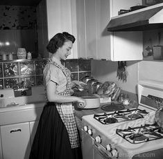 She always wore a apron over her day dress.