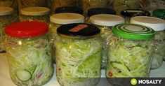 Fresh Rolls, Finger Foods, Pickles, Cucumber, Cabbage, Mason Jars, Sandwiches, Food And Drink, Health Fitness