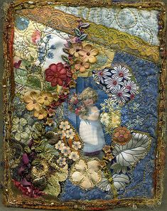 https://flic.kr/p/CG7Wi | mille fluer | art quilt using only prints with flowers and leaves