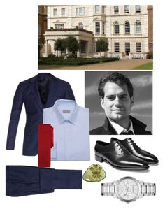 """Alexander meeting with his staff at Clarence House to discuss an engagement announcement"" by immortal-longings ❤ liked on Polyvore featuring Paul Smith, John Lobb, Burberry, Club Monaco and Brooks Brothers"
