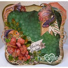 Heartfelt Creations - Youre The Best Coral Hibiscus Project