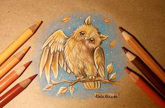 Autumnal owl by AlviaAlcedo.deviantart.com on @DeviantArt