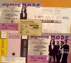Depeche Mode concert tickets, can't wait for the next !