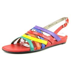 Mark Lemp By Walking Cradles Lanie N/S Open-Toe Leather Slingback Sandal >>> Click on the image for additional details.