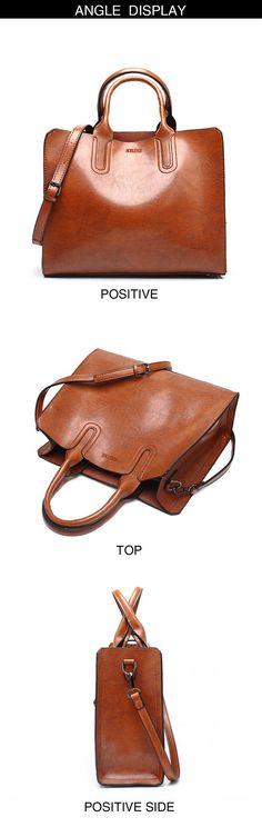 Leather Handbags Big Women Bag High Quality Casual Female Bags Trunk Tote  Spanish Brand Shoulder Bag Ladies Large Bolsos e7b424e6ba