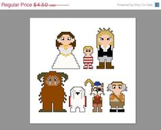 Christmas In July 20% Off Labyrinth Pixel People Character Cross Stitch PDF PATTERN ONLY