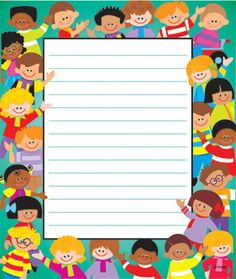 Trend Enterprises Trend Kids Notepad (Set of Daycare Daily Sheets, Certificate Background, Kids Notes, Boarders And Frames, Doodle Frames, Class Activities, Planner, Stationery Design, Paper Background