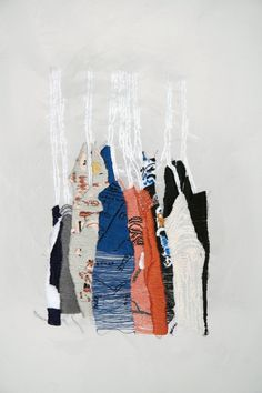 closet studies, contemporary embroidery, embroidery, fine art,  textile art  Allison Watkins  #embroidery