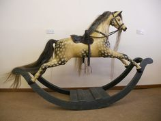 Antiques Atlas - Rare Fully Restored Bow Rocking Horse