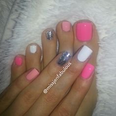 Just finger nails Get Nails, Love Nails, How To Do Nails, Pretty Nails, Hair And Nails, Pink Nails, Pink Toes, Nail Art Vernis, Manicure Y Pedicure