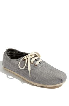 TOMS Cordones Chambray...Just got these with a birthday gift card. love 'em
