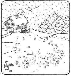 Wer stapft da durch den Schnee? Wenn Ihr Kind die Zahlen von 1 bis 69 auf unserer Vorlage sinnvoll verbindet, erscheint ein Eisbär im Schnee. Die Malen-nach-Zahlen-Vorlagen erhalten Sie für Ihr Kind gratis zum Download.