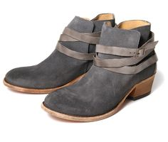 Horrigan Slate (£150.00) - One of Hudsons most successful ladies suede ankle boots, and now in a great new range of colours for SS14. A spli...