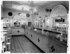 Milk Bar interior, Martin Place, Sydney NSW in 1934.