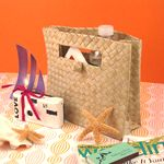 Large Palm Leaf Welcome Bags #ootbags #welcomebags #outoftownguests #welcomeguestbags #guestbags