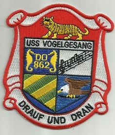 USS Vogelgesang DD 862 Tin Can Gearing Class Destroyer SHIP Military Patch   eBay