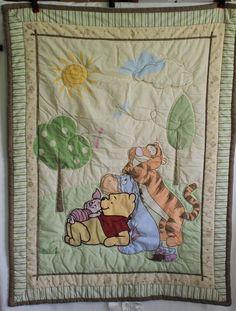 Winnie The Pooh Crib Blanket Quilt Comforter Coverlet Toddler Tigger Piglet #Disney
