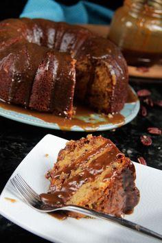 Toffee Pecan Caramel Pound Cake | http://www.carlsbadcravings.com/toffee-pecan-caramel-pound-cake/