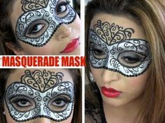 ** MASQUERADE MASK MAKEUP HALLOWEEN COSTUME TUTORIAL **
