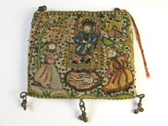 Object Name: purse & sweetbag    Date: 1620-1650    Accession Number: 1960.246  Location on Display: Gallery of Costume - 1F - The Needle's Excellency  Image Copyright: © Manchester City Galleries