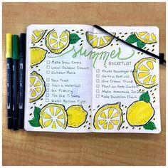 """Easy Peasy Lemon Squeezy #bujo #summer #bucketlist #lemons"""