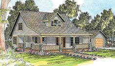 Single Family Curb Appeal with Duplex Utility - 72534DA | Country, Craftsman, Traditional, Narrow Lot, 1st Floor Master Suite, CAD Available, PDF | Architectural Designs