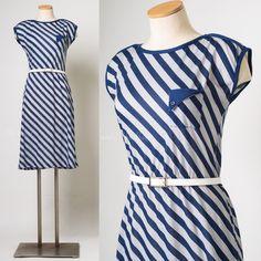 M s blue dress 80s