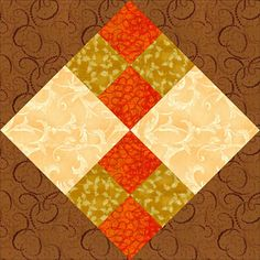 Improved Four-Patch Quilt Block Pattern
