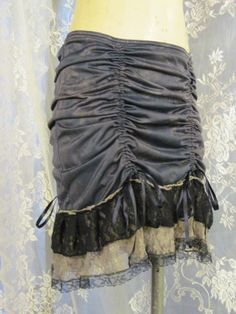 Gunmetal Hand Dyed Up-Cycled Slip Skirt by getjuliet on Etsy