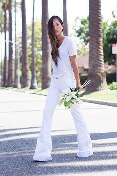 Image of 春夏季必備的白色牛仔褲穿搭術