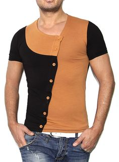 Men's Fashion Patchwork Sport Casual Short-Sleeve Top M-2XL 4 Colors-Loluxe