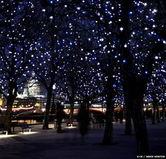 night lights queens walk london - Google Search