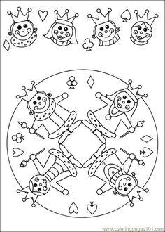 food coloring mandalas | Coloring Pages Mandala 61 (Other > Painting) - free printable coloring ...