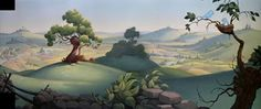 Animation Backgrounds: THE RELUCTANT DRAGON