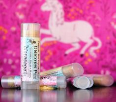Clarasage Unicorn Pee Lip Balm with Shimmer Magic & Cocoa Butter -  98% Organic by clarasage on Etsy https://www.etsy.com/listing/112621954/clarasage-unicorn-pee-lip-balm-with