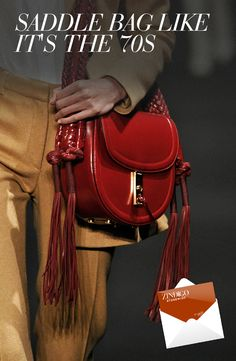 With the 70s resurgence in fashion, the saddle bag is making a comeback.