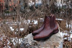 http://chicerman.com  skoaktiebolaget:  Carmina Shoemaker braided Chelsea boots. Group made to order.  http://ift.tt/1jbPz7m  #menshoes