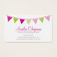 Download this babysitter business card template and other free cute bright bunting bold party pink lime green business card accmission Choice Image