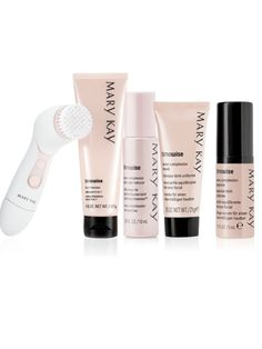 The ultimate in luxury! This complexion-perfecting collection is sure to bring out her most radiant look. Set includes:      Skinvigorate™ Cleansing Brush     TimeWise® 3-In-1 Cleanser (Normal to Dry)     TimeWise® Even Complexion Essence     TimeWise® Even Complexion Mask     TimeWise®  Even Complexion Dark Spot Reducer