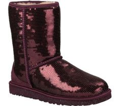 Maroon Sparkly UGG boots... is it bad that I really want a pair of these?!?