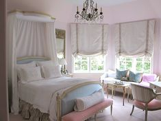 For MG...pinks with blue...sophisticated young girl room