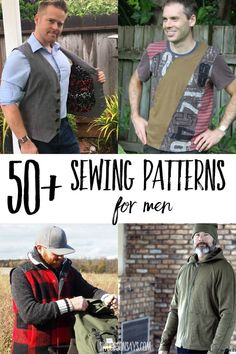 It's hard to find things to sew for men, and I feel like people are always asking what the options are for men's sewing patterns. Mens Sewing Patterns, Beginner Sewing Patterns, Sewing Blogs, Diy Sewing Projects, Sewing Projects For Beginners, Free Sewing, Sewing Tutorials, Sewing Stitches, Sewing Ideas