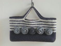 dec 09-092   shades of gray handbag, knit and felted   Jane Carney   Flickr