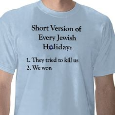 Jewish Holidays - the short version. haha! I want this. I'd probably get in trouble for it at school though.