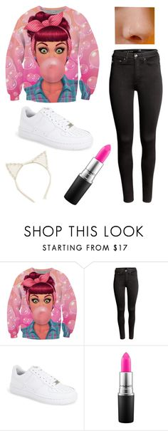 """""""Green Eyes & Red Freckles #FallinGseries"""" by owllover114 ❤ liked on Polyvore featuring H&M, NIKE, MAC Cosmetics and Aerie"""