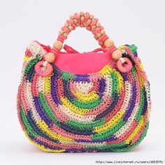 Colorful crochet bag - summer idea