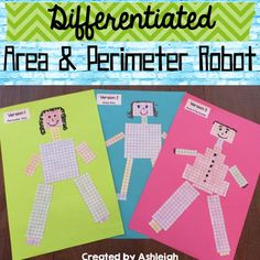 Your students will absolutely LOVE the Area and Perimeter Robot math project! Not only is it FUN, it encourages critical thinking and problem solving skills!
